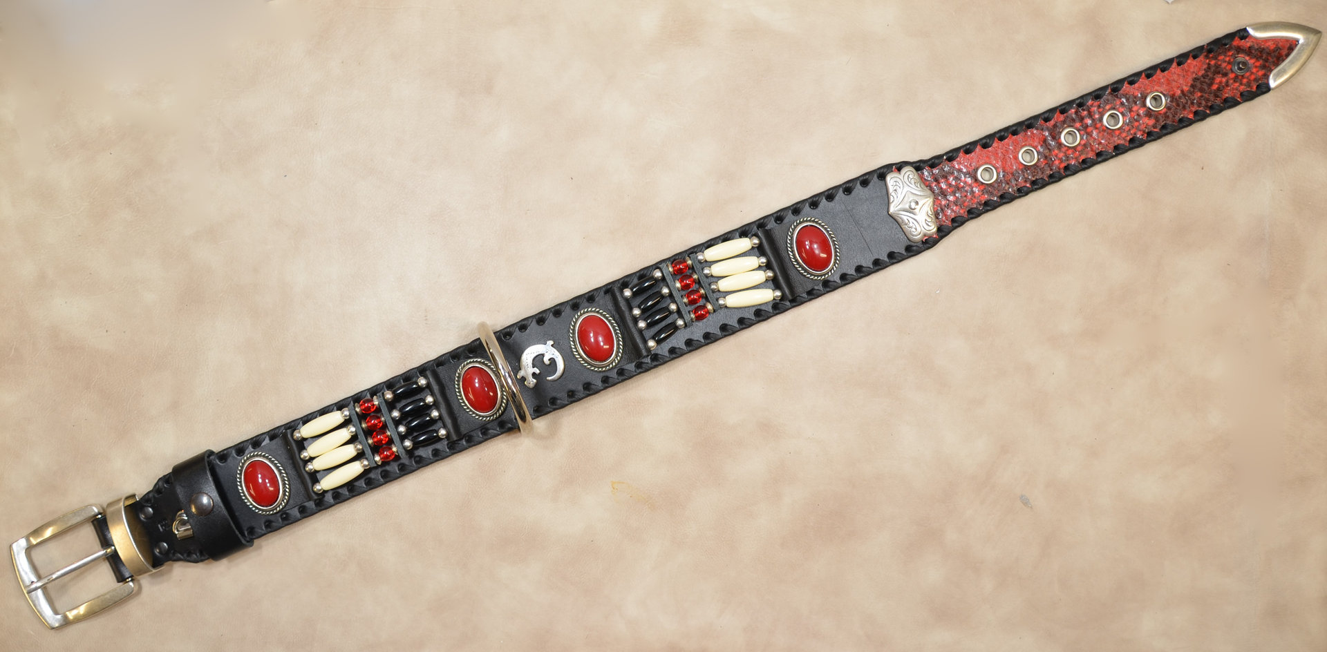 "Hundehalsband ""red cloud"" 5cm breit"